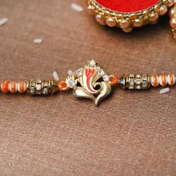 Designer Gold Ganesha Rakhi