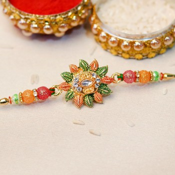 Traditional Floral Rakhi
