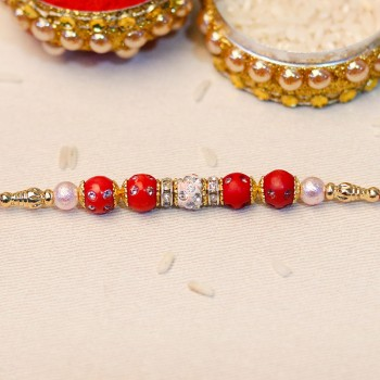 Sophisticated Bead Rakhi