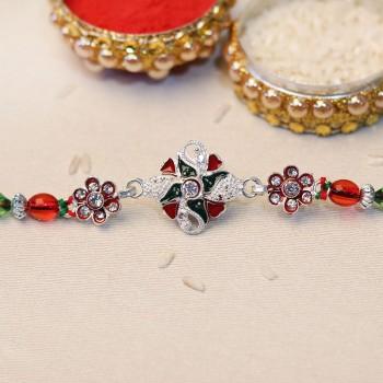 Bejeweled Floral Rakhi