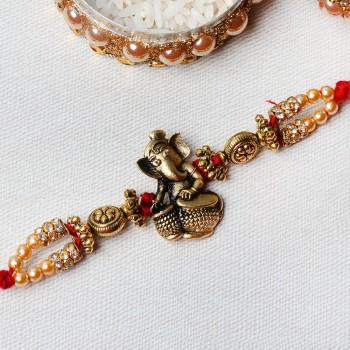 Golden Ganesha Rakhi