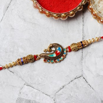 peacock rakhi
