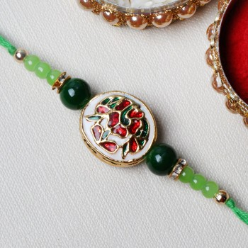 Royal Kundan and Pearl Rakhi