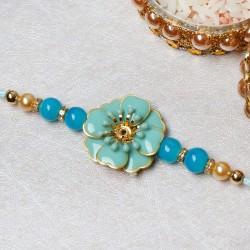 Splendid Floral Stone Rakhi