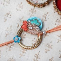 Silk Thread and Pearl Rakhi