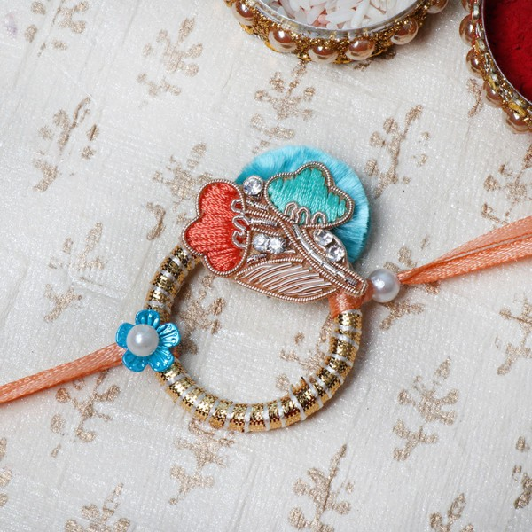 Silk Thread and Pearl Rakhi
