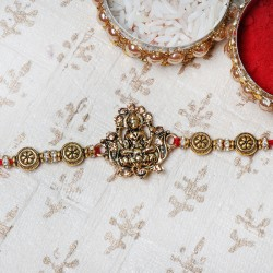 Propituous Gold Laxmi Rakhi