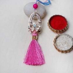 Pink Tassle Lumba Rakhi