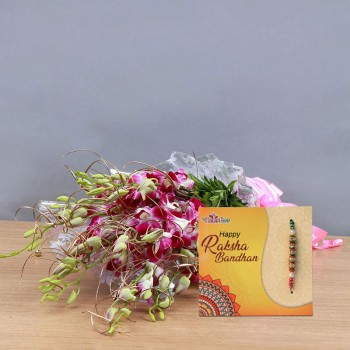 Orchid and Rakhi Combo
