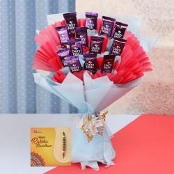 Basket of chocolates with Pearl Rakhi