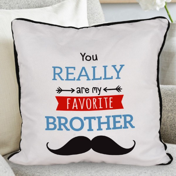 Favorite Brother Printed Cushion