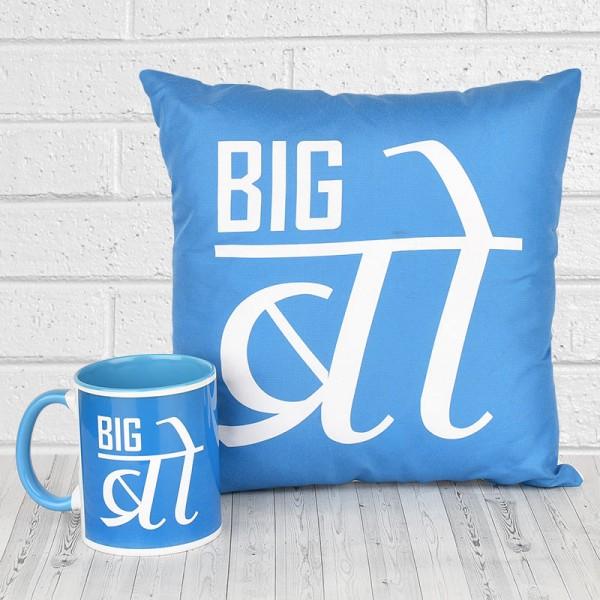 Big Bro Printed Mug and Cushion for Brother