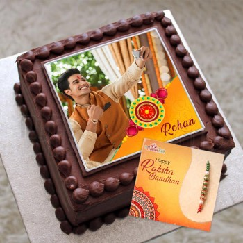 Rakhi Personalised Photo Cake
