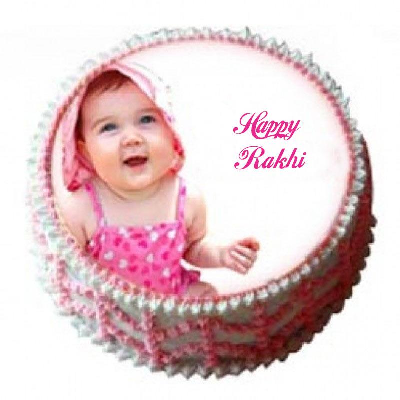 Rakhi Photo Personal Cake