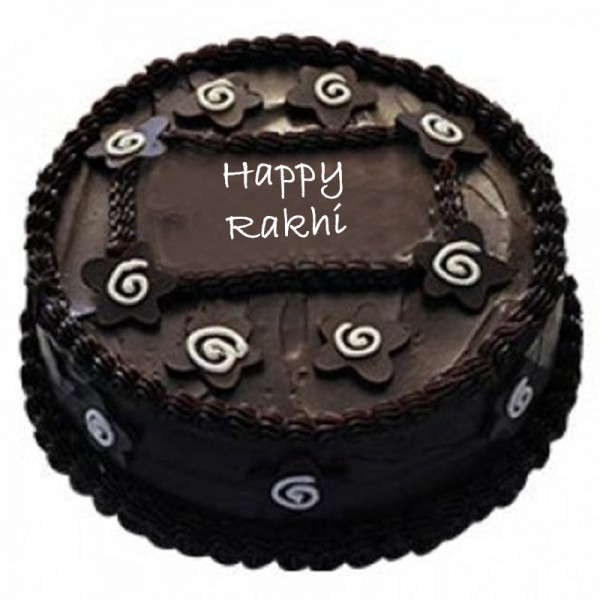 Rakhi Dark Chocolate Cake