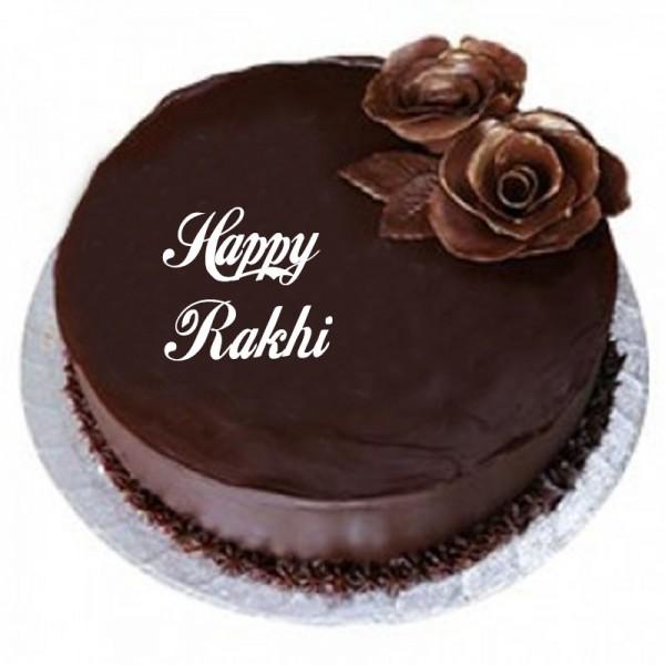 Rakhi Eggless Chocolate Cake