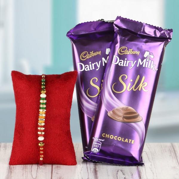 Rakhi with Dairy Milk Silk