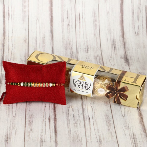 Rakhi with 5 pc Ferrero Rocher