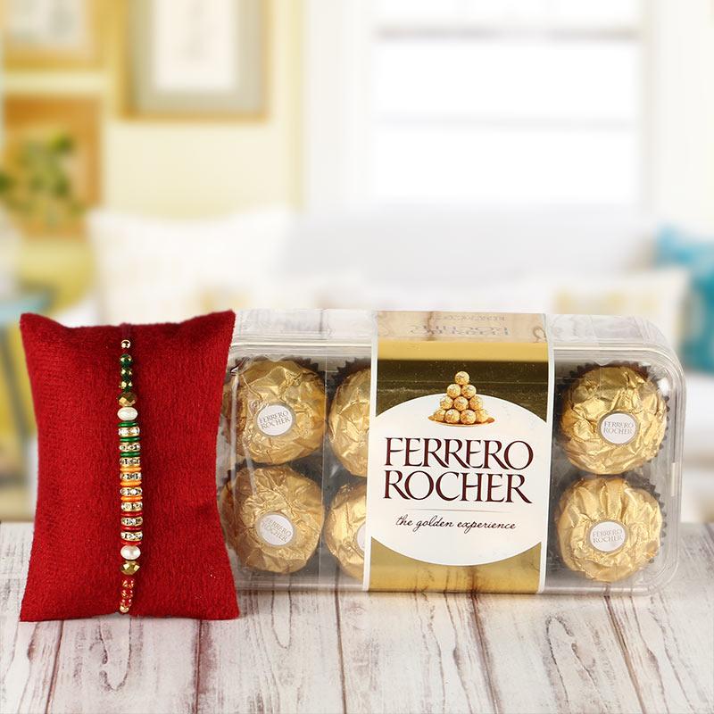 Rakhi with 16 pcs Ferrero Rocher