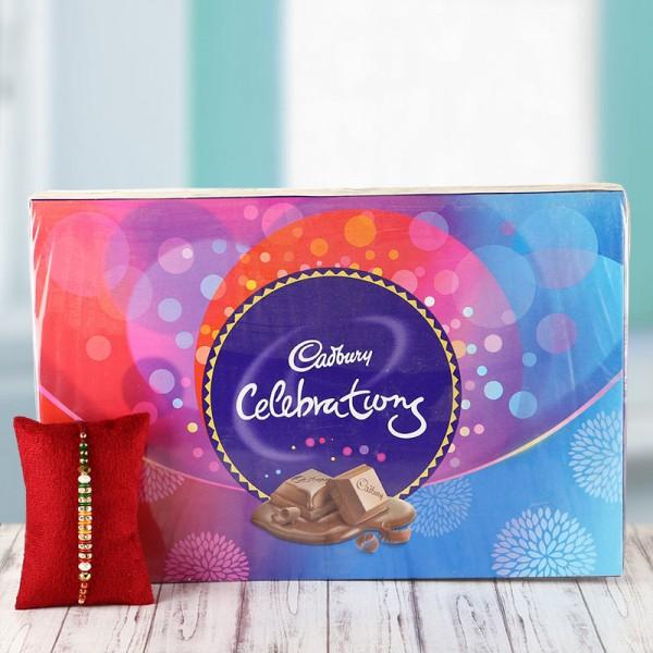 1 Rakhi with Cadbury celebration Pack