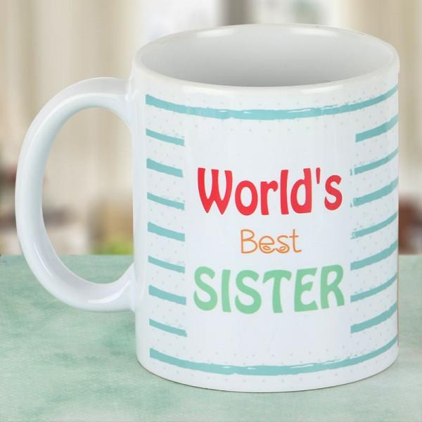 Worlds Best Sister Printed Coffee Mug