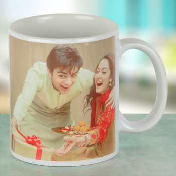Brother and Sister Personalised Coffee Mug for Raksha Bandhan