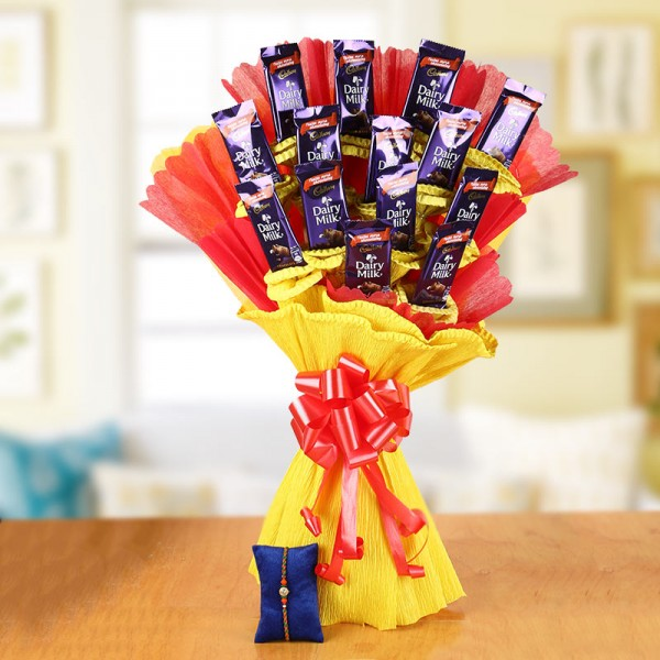 Chocolate Bouquet and Rakhi