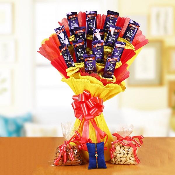 Nuts n Chocolates and Rakhi