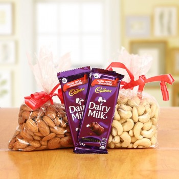 200g Dry fruits with Dairy Milk