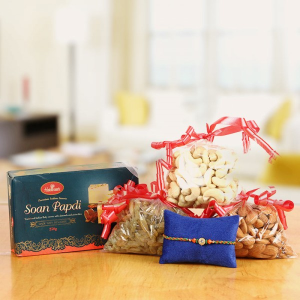Sweets and Nuts Rakhi Surprise