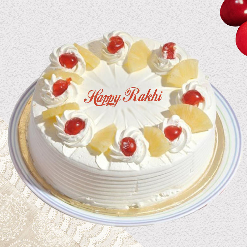 Rakhi Pineapple Cake