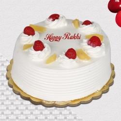 Rakhi Pineapple Eggless Cake