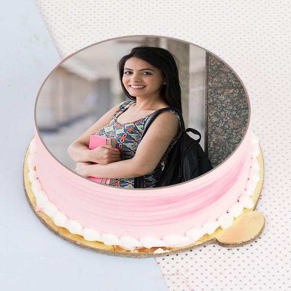 Rakhi Photo Strawberry Cake