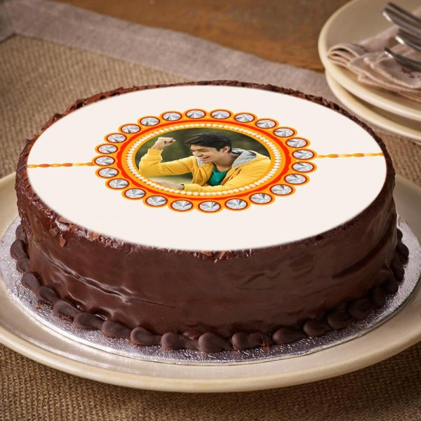 Rakhi Photo Truffle Cake