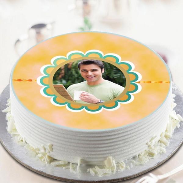 Rakhi Photo Sweet Cake