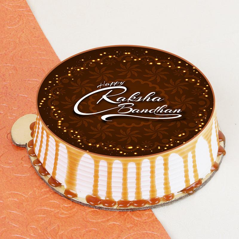 Rakhi Photo Cracking Cake