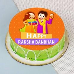 Rakhi Photo Kiwi Cake