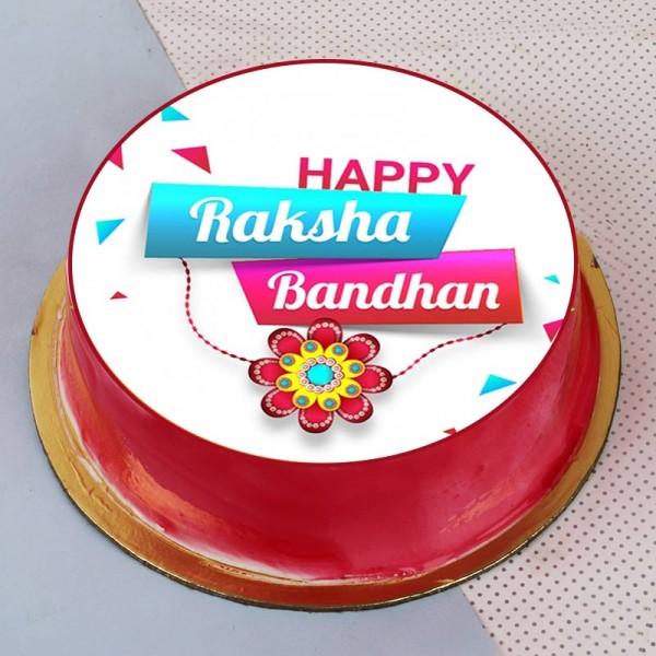 Rakhi Photo Pink Cake