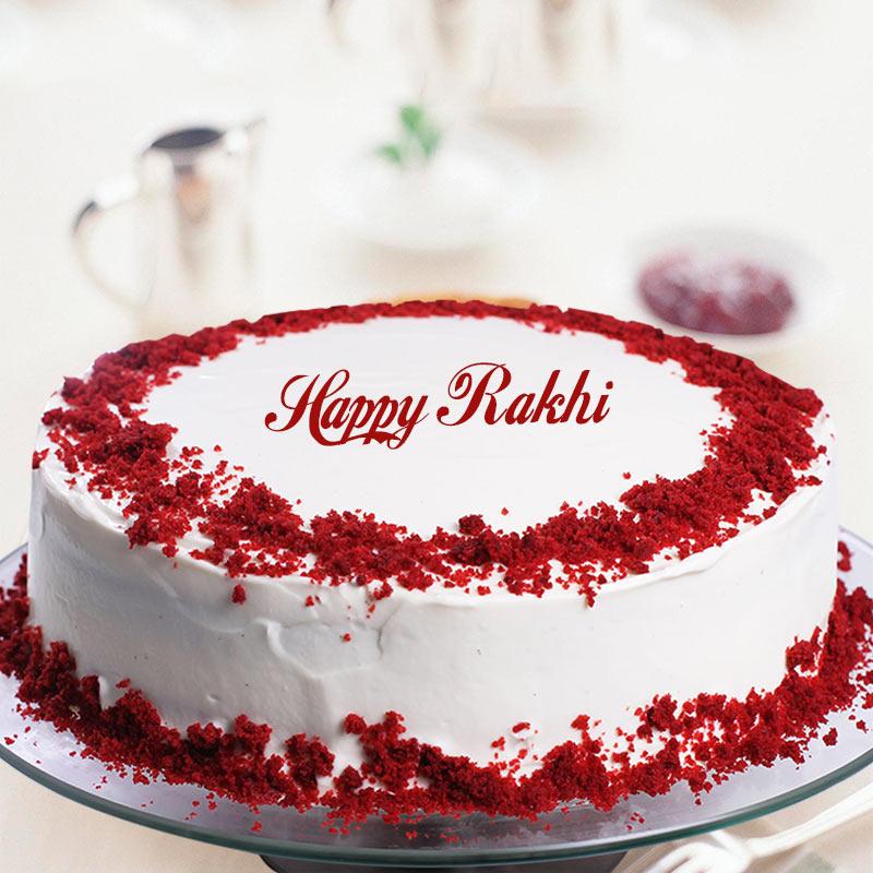 Rakhi Red Velvet Cake