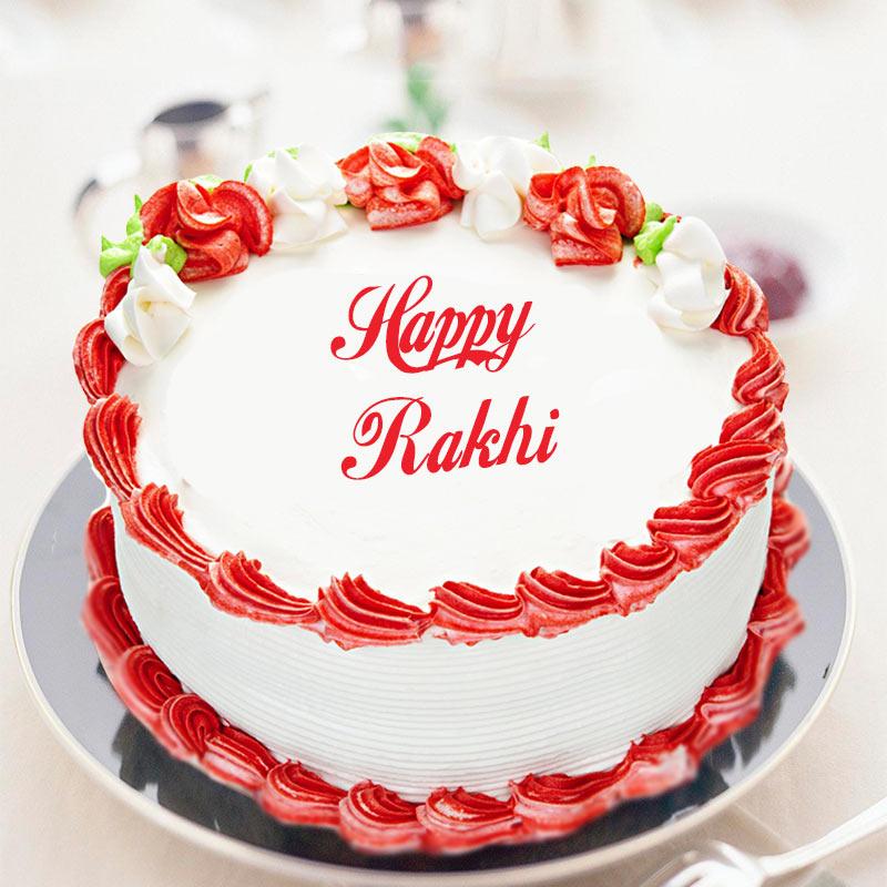 Rakhi Strawberry Cake
