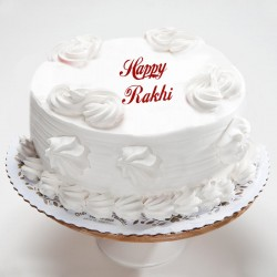 Rakhi Vanilla Eggless Cake