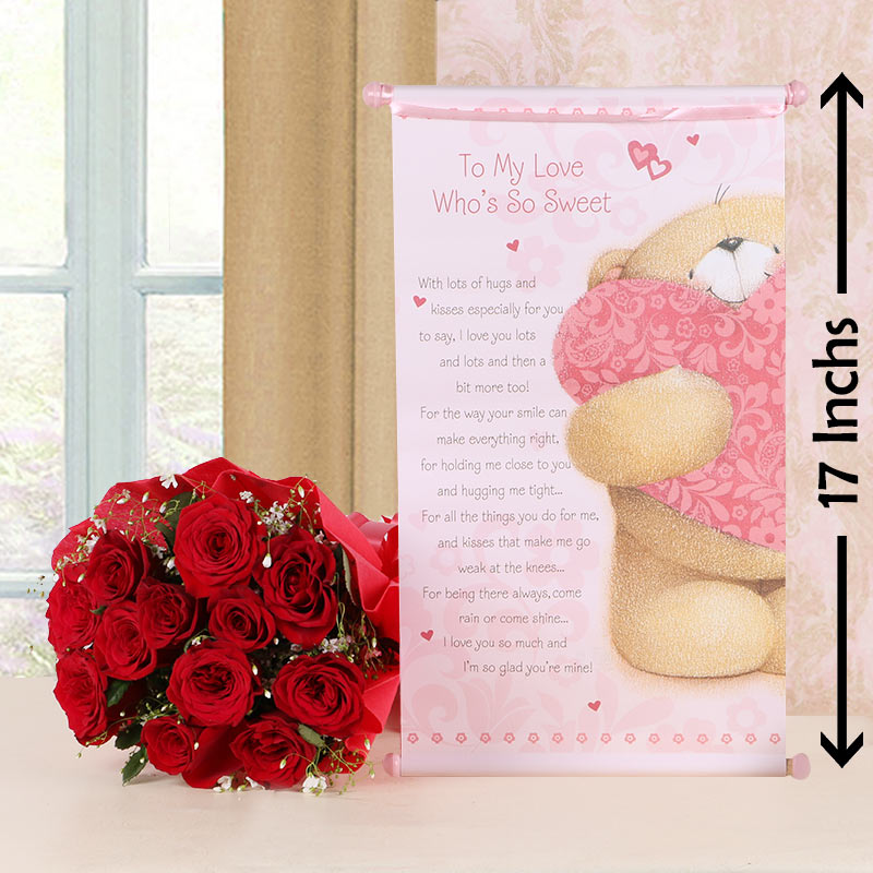 Roses with Scroll