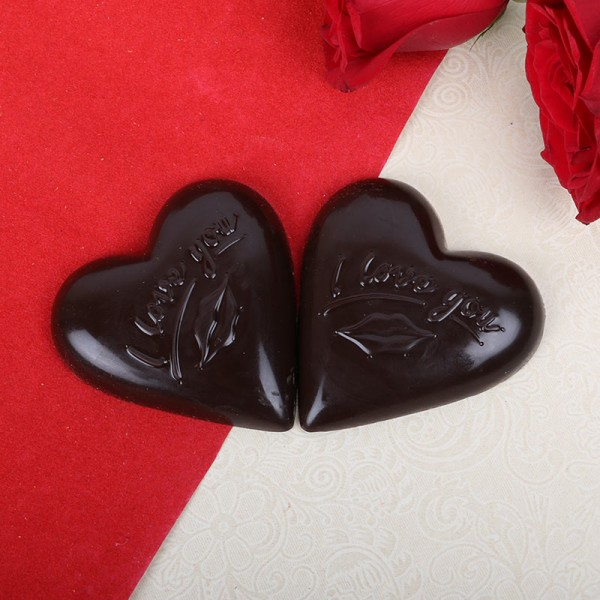2 pcs Heart Shape Homemade Chocolate
