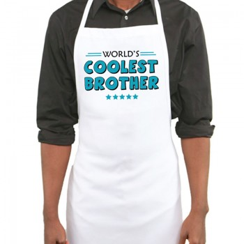 Worlds Coolest Brother Printed Apron