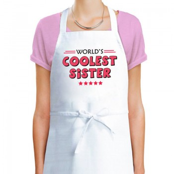 Worlds Coolest Sis Apron