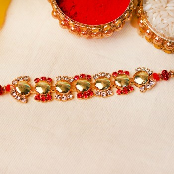 Regal Golden Rakhi