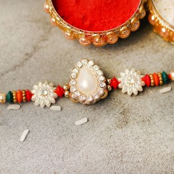 Designer Dazling Pearl Rakhi