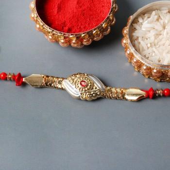 Designer Gold Chain Rakhi