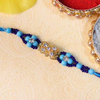 Blue Beaded Stone Rakhi