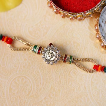 Spiritual Swastik Rakhi for Bhai